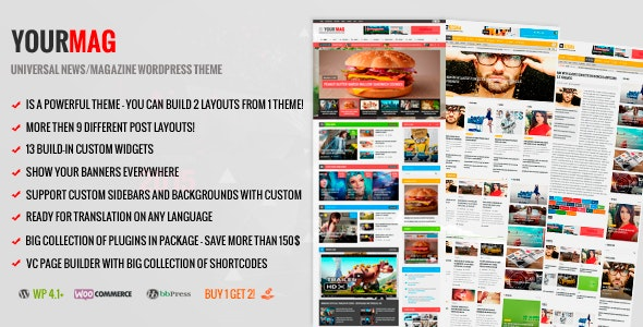 Yourmag wordpress theme